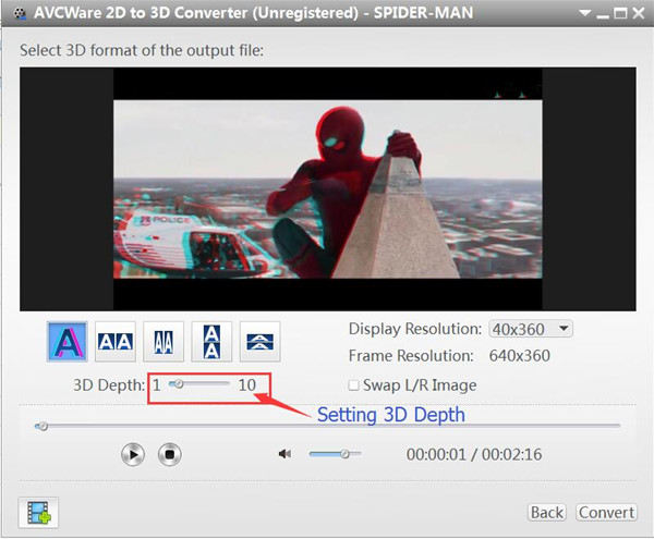 convert 2d video to 3d video for android