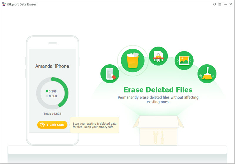 erase deleted files,contacts on iPhone
