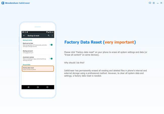 delete data from android phone