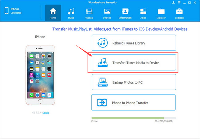 transfer iTunes media files to iPhone,iPad,iPod and Android