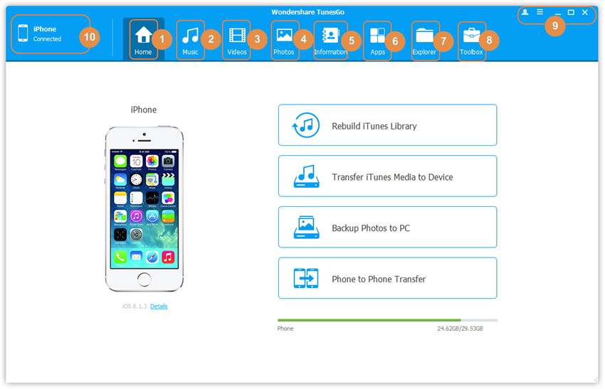 tunesgo transfer iTunes music to iPhone,iPad,iPod and Android